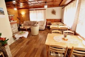 ubytovanie žember - chata žember - obývacia izba - jedáleň