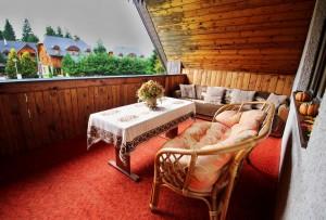 ubytovanie žember - chata žember - balkón